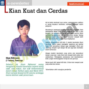 Testimoni (Ilham 7thn dari Ponorogo ttg Kids 3)
